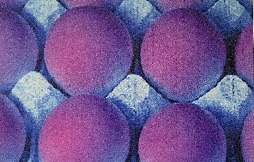 View with help of ultraviolet light of same eggs after egg washing