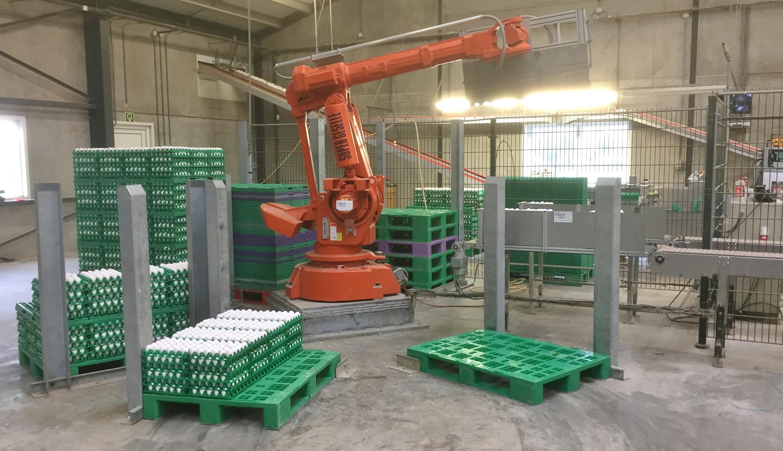 Robot palletizers